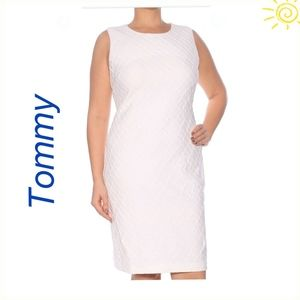 Tommy Hilfiger Women Dress White Tailored Pencil